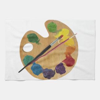 Artist`s palette color wheel kitchen towels
