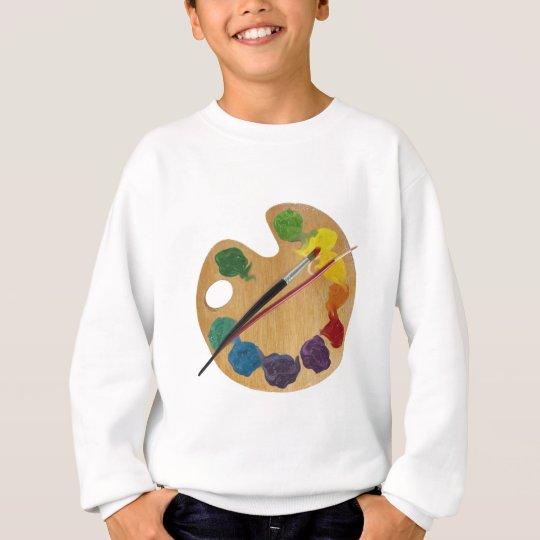Artist`s palette color wheel sweatshirt