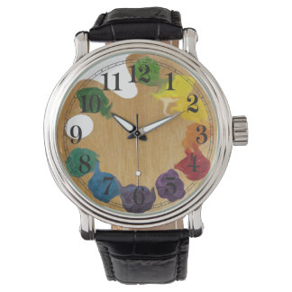 Artist`s palette rainbow watch