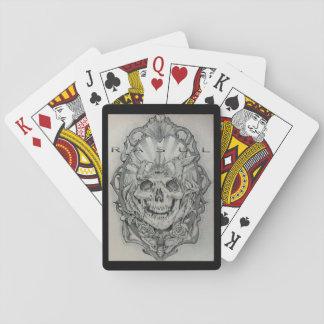 Artist Sarah Rasul . Skull Playing Cards .