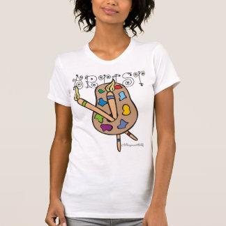 Artist Scoop Neck Sleevless Shirt White