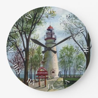 Artist Series Clock - Marblehead Lighthouse