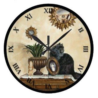 Artist Series Clock - Persian Cat
