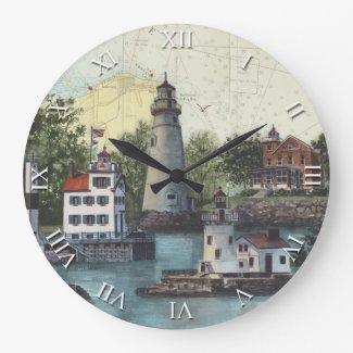 Artist Series Clock - The Guiding Lights of Ohio