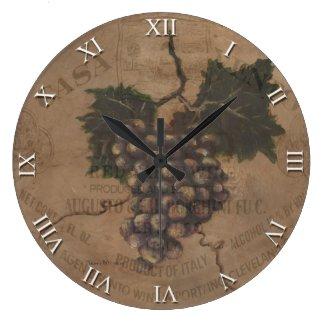 Artist Series Clock - Tuscan Wine Clock