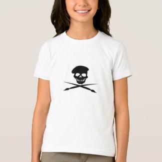 Artist Skull and Crossed Paint Brushes T-Shirt
