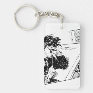 Artist Slump Single-Sided Rectangular Acrylic Keychain