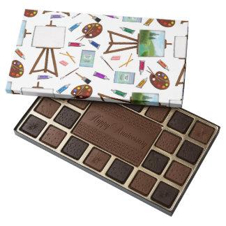 Artist Studio Art Supplies Box of Chocolates