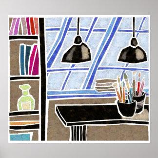 Artist Studio Print
