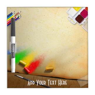 Artist Themed Painter Custom Text Dry Erase Dry-Erase Board