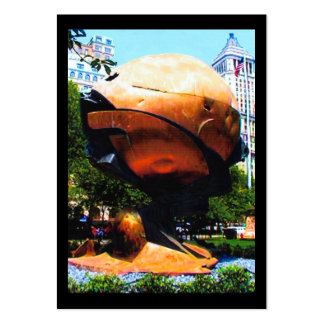 Artist Trading Card NY Trade Center Globe 2002 ATC Large Business Cards (Pack Of 100)