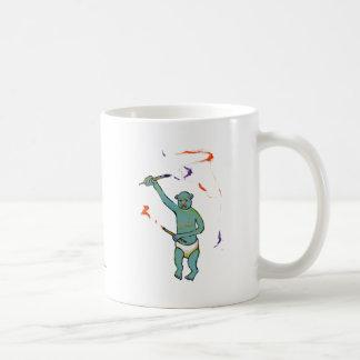 Artist trained monkey strange raw ousiter ugly art coffee mug