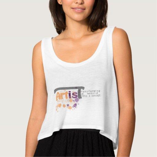 Artist Typography Women's Tank Tank Tops, Tanktops Shirts