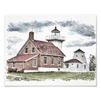 Artist View Sherwood Point Lighthouse Photo Print