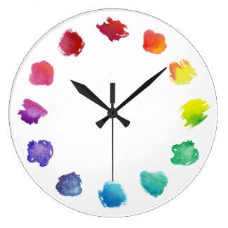 Artist Watercolor Palette Wall Clock