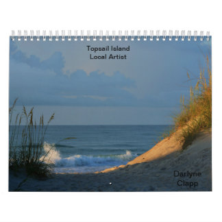 Artista 2015 del Local de la isla de Topsail Calendarios De Pared