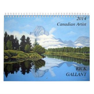 Artista canadiense Rick galante Calendarios