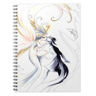 Artista como diosa libreta espiral