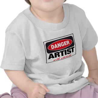 Artista con actitud camisetas