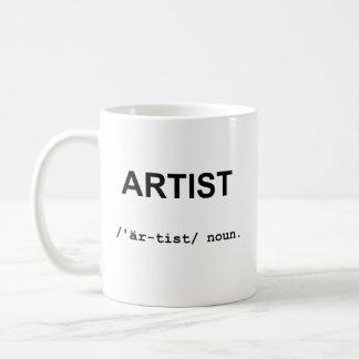 ARTISTA con la taza de los símbolos fonéticos