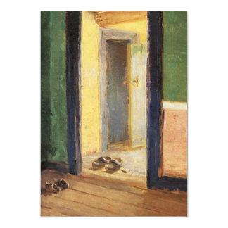 "Artista danés de Ana Ancher en el zapato de madera Invitación 5"" X 7"""