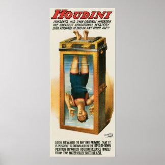 Artista de escape del vintage del ilusionista del  póster