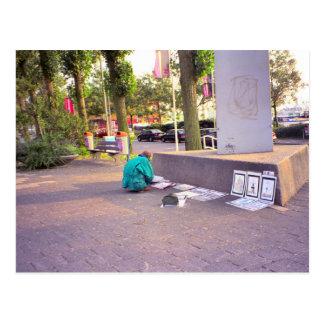 Artista de la calle, Rotterdam Tarjeta Postal