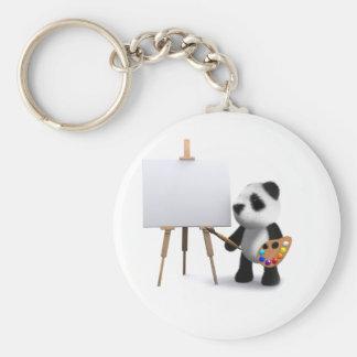 artista de la panda del bebé 3d llaveros personalizados