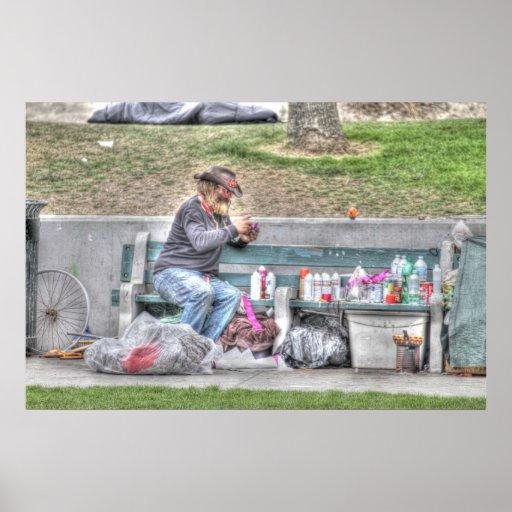 "Artista de la playa de Venecia "" Póster"