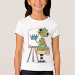 Artista de la rana - la camiseta de los niños polera