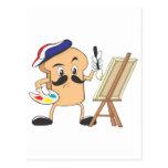 Artista de la tostada francesa postal