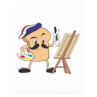 Artista de la tostada francesa tarjeta postal