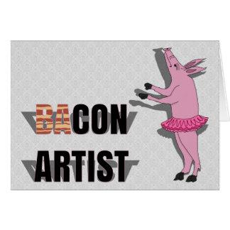 Artista de las estafas (de los vagos) tarjeta de felicitación