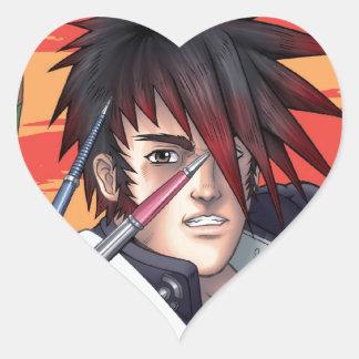 Artista de Manga del animado Pegatina En Forma De Corazón