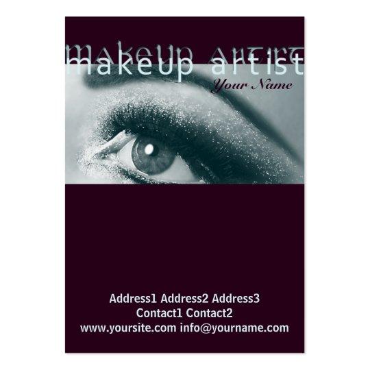 Artista de maquillaje 1 - negocio, tarjeta del tarjetas de visita grandes