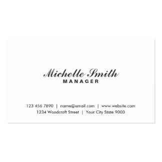 Artista de maquillaje blanco llano elegante profes tarjetas de visita