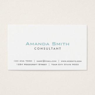 Artista de maquillaje blanco llano profesional tarjeta de negocios