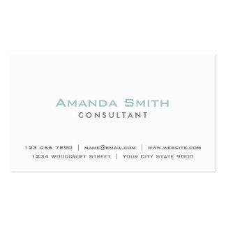 Artista de maquillaje blanco llano profesional tarjetas de visita