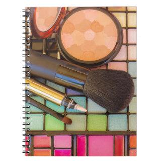 Artista de maquillaje libreta espiral