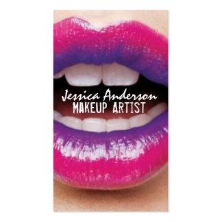 Artista de maquillaje del lápiz labial de Ombre Tarjetas De Visita