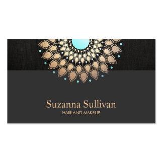 Artista de maquillaje del negro del oro del salón tarjetas de visita