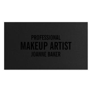 Artista de maquillaje elegante de la textura negra tarjetas de visita