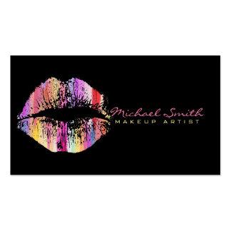 Artista de maquillaje elegante de los labios #23 tarjetas de visita