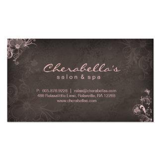 Artista de maquillaje elegante elegante Brown rosa Tarjeta De Visita