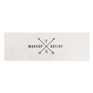 Artista de maquillaje elegante simple blanco y neg