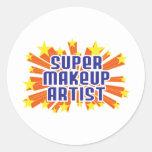 Artista de maquillaje estupendo pegatina redonda