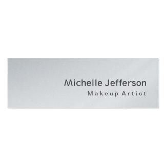 Artista de maquillaje gris flaco moderno especial tarjetas de visita mini