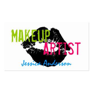 Artista de maquillaje intrépido y colorido tarjetas de visita