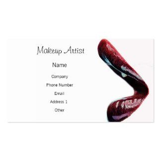 Artista de maquillaje - labios tarjetas de visita