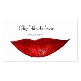 Artista de maquillaje moderno de la cosmetología plantillas de tarjetas de visita